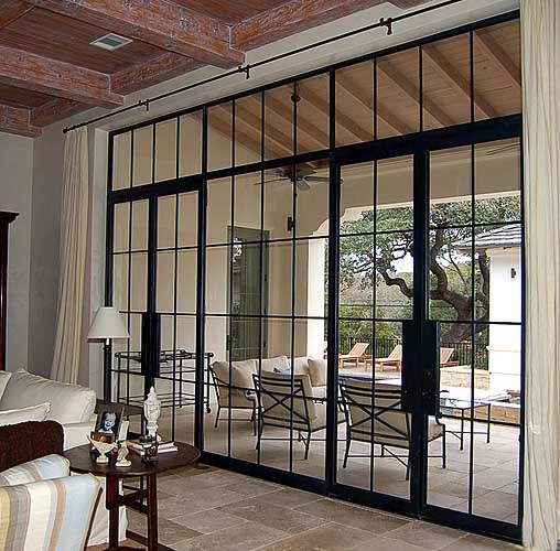 Rehme custom iron work doors for New construction windows online