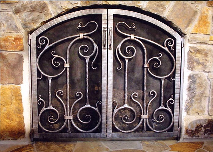 HOME   gates   windows   doors   fences   stairways   rails   awnings    gazebos   fireplace screens   furniture   kitchen   lighting   window  grills    Rehme Custom Iron Works   Fireplace Screens. Custom Wrought Iron Fireplace Screens. Home Design Ideas